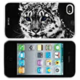 Cocoz® Snow Leopard Fashion Design Hard Case Cover Skin Protector for Iphone 4 4s Iphone4 At&t Sprint Verizon Retail Packing White Pc+pearlescent Aluminum -D001