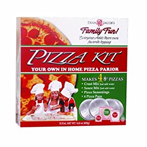Dean Jacob's Pizza Kit with Disposable Pans, 14.8-Ounce (Pack of 3)