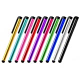 #8: IndiSmack Pack Of 2 Stylus Pen for All Capacitive Touch Screen Smartphone Mobile Tablets iPads iPhone iPods- Random Colors