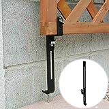 ラティスや木製フェンスをコンクリートフェンスに固定する金具 下部用 1個 [35mm枠対応] ネジ付 LV-CF40