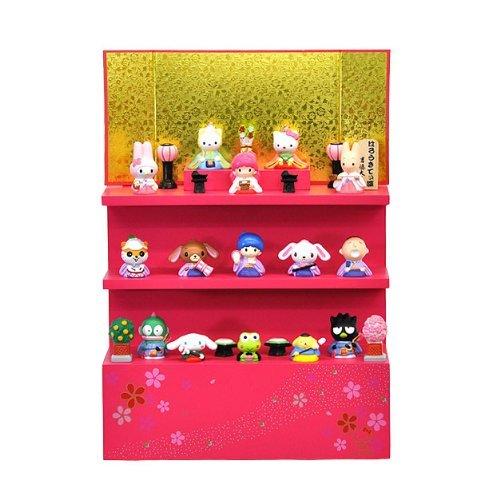 Sanrio ハローキティ 縦型段飾り15人セット(雛人形・ひな人形)