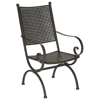 MBM 156123 Sessel Romeo Elegance hoch, 58 x 68 x 101 cm, Eisengestell marone, Flächenfarbe marone antik von MBM - Gartenmöbel von Du und Dein Garten