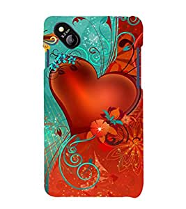 printtech Heart Floral flowers Back Case Cover for Micromax Bolt D303
