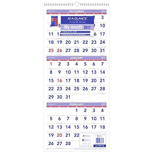 at-a-glance-wall-calendar-2017-three-month-view-14-months-december-start-12-x-27-wirebound-pm11-28