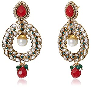Buy Sia Art Jewellery Drop Earrings For Women Multi Color AZ872 Online At Low Prices In