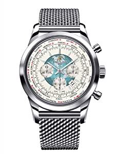 Breitling Mens Transocean Chronograph UnitimeWatch Features World Time AB0510U0/A732-SS