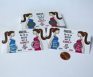 Gender Reveal Sex Scratch off Cards - Scratch-off gender reveal in a Brunette Guess Design - 10 Cards by My Scratch Off Labels, LLC