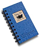 Dining Out, A Restaurant Journal - MINI Blue Hard Cover (prompts on every page, SPACE FOR 80 RESTAURANTS! recycled paper, read more...)