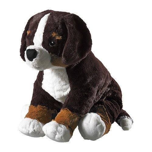 1 X Ikea Hoppig Bernese Burmese Mountain Dog Puppy Stuffed Animal Childrens Soft Toy Play - 1