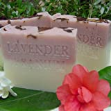 Provence French Lavender /Egyptian Geranium with Rose Clay, Crushed Flowers and Organic Shea Butter Soap) ~ Natural Handcrafted...