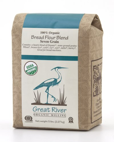 Great River Organic Milling 100% OrganicBread Flour Seven Grain, 5 Pound Bags (Pack of 4)
