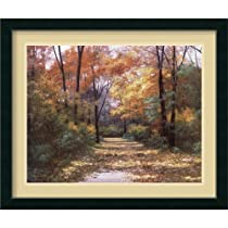 Autumn Road Framed Wall Art by Diane Romanello - 34.87W x 28.87H in.