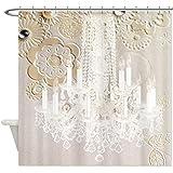 CafePress vintage chandelier modern fashion artistic Shower Shower Curtain -