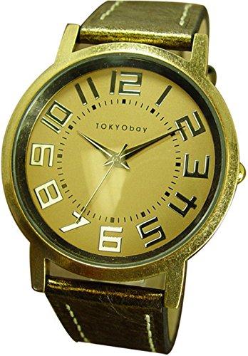 tokyobay-in-pelle-con-orologio-in-metallo-colore-oro