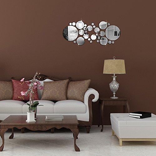 Soled adesivi murali 30 pezzi specchio puntino di polka for Amazon specchi da parete