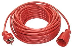 as-Schwabe 51153 Rallonge électrique avec câble PVC H05VV-F 3G1,5 15 m, protection IP20 Rouge