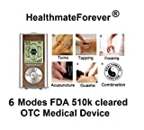 Lifetime Warranty, FDA cleared HealthmateForever TENS unit 6 modes pcs massage pads, pain relief hand held digital massager. Healthmate Forever Healthmate Forever HM6M silver8