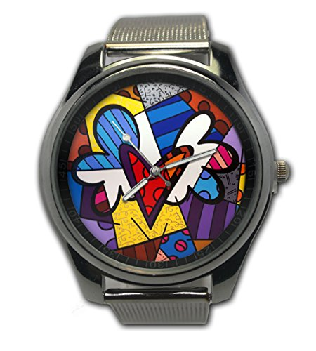 Britto Love Custom Image Snap On Watch Stainless Steel