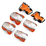 Children kids Roller skates Bicycle Skateboard sports protector Guards pads Knee pads,Elbow pads,wrist pads in orange Size M