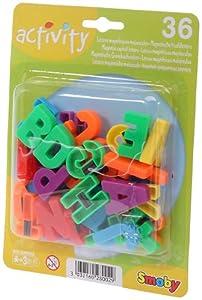 Smoby Jeux Educatifs - 36 Lettres Magnétiques Majuscules