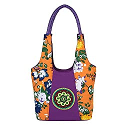 Anekaant Flora Women Canvas Purple Tote bag