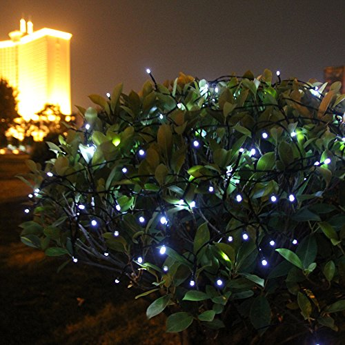 Innoo Tech Solar String Lights Outdoor 200 LED White fairy Christmas string lights 8 Moder for ...