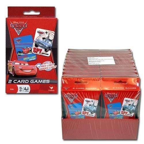 Disney Cars Set of 2 Card Games - Red Light Green Light and Spy - 1