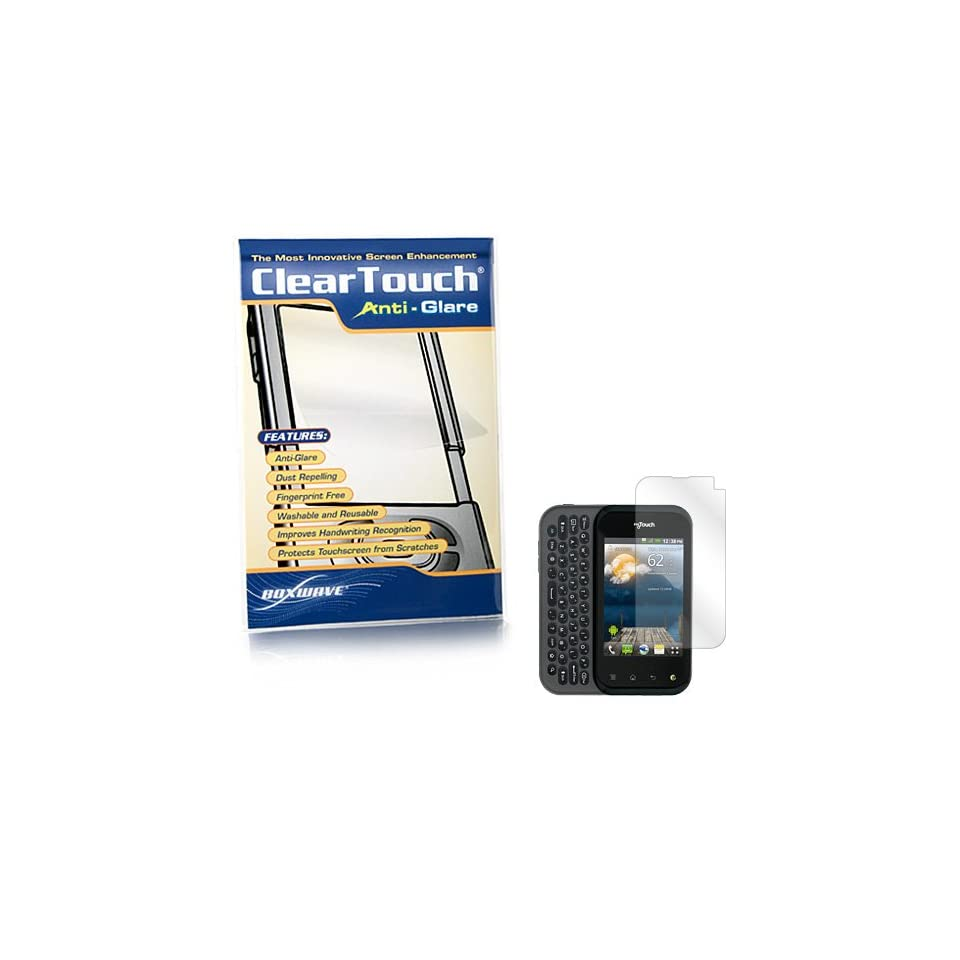 BoxWave T Mobile myTouch Q ClearTouch Anti Glare Screen Protector   Premium Quality Anti Glare, Anti Fingerprint Matte Film Skin to Shield Against Scratches (Includes Lint Free Cleaning Cloth and Applicator Card)   T Mobile myTouch Q Screen Guards