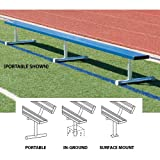 15' Permanent Bench w/o back Color Red Sold Per EACH
