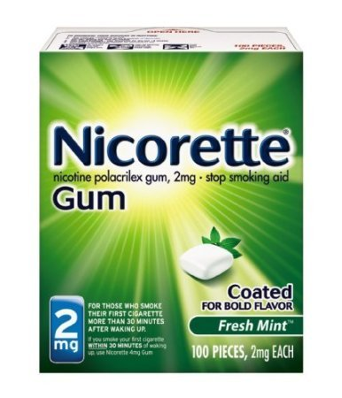 Nicorette Coated Gum 2mg, 100 pieces (Fresh Mint) Personal Healthcare / Health Care nicorette coated gum 2mg 100 pieces fresh mint personal healthcare health care
