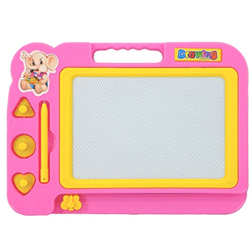 Gotd Kids Black White Magnetic Writing Painting Drawing Graffiti Board Toy Preschool Tool , Pink