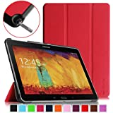 Fintie Samsung Galaxy Note 10.1 2014 Edition Case Cover - Ultra Slim Lightweight Stand Smart Shell with Auto Sleep/Wake Feature, Red