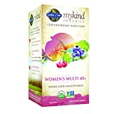 Garden of Life mykind Organics Women's Multi 40+, 120 Organic Tablet