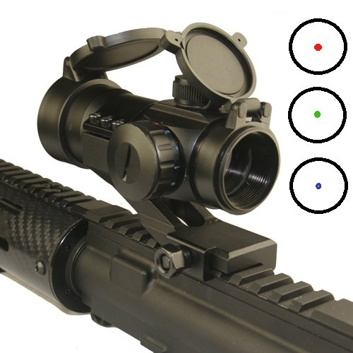 1X30 Red Dot Sight With Red, Green, And Blue Reticle W/ Cantilever Mount