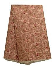 Inhika Women's Kurti Fabric (Inhika_522_Beige Red Gold)