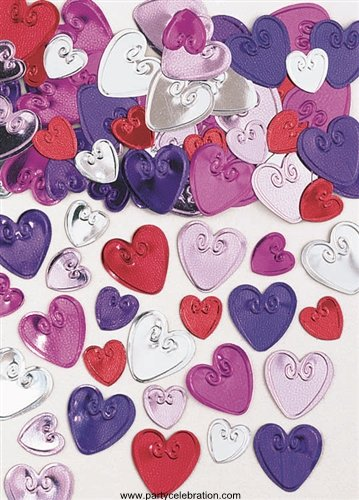 Multi-Colored Hearts Confetti - 1/2 ounce bag