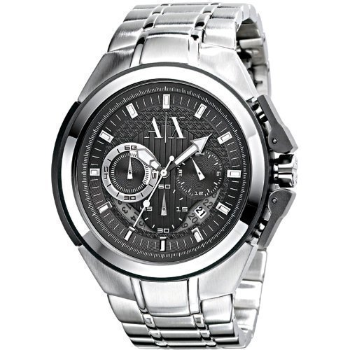 Armani Exchange Men's AX1039 Silver Stainless-Steel Quartz Watch with Grey Dial