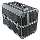 Angelausrüstung/Köderbox Tasche Werkzeugkoffer mit ausklappbarem Fächer 360 x 280 x 215 mm, Schwarz