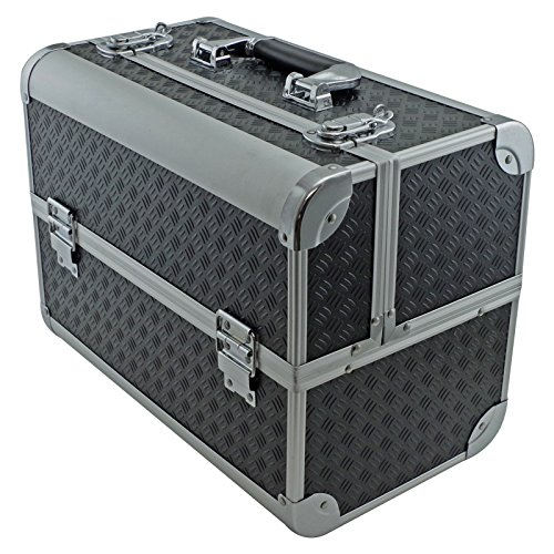 SRA-Cases-EN-AC-FC-B086-BK-Toolbox-Fishing-TackleBait-Case-with-Fold-Out-Trays-141-x-11-x-85-Black