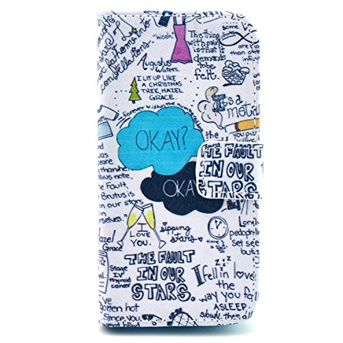 """Funny Picture Color Print Pu Leather Stand Flip Wallet Card Case Cover For Samsung Galaxy S4 Mini I9190(Not For Samsung Galaxy S4 9500)- Okay The Fault In Our Stars (Package Includes: 1 X Screen Protector And Stylus Pen Image""""Gift_Source"""")"""