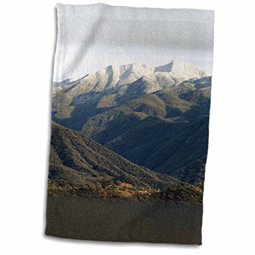 3dRose Henrik Lehnerer Designs - Nature - Snow on the local Topa Topa Mountains near Ojai, California - 12x18 Towel (twl_211629_1) (Ojai Hotels compare prices)