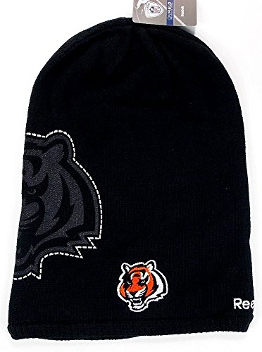 NFL Licensed Long Onfield Fleeced Lined Beanie Hat Cap Lid Toque (Cincinnati Bengals) (Super Bowl Champions Winter Hat compare prices)