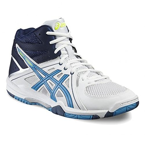 Asics Scarpe Volley Uomo Gel Task MT - B506Y-0143 - White/Blue Jewel/Safety Yellow-46.5