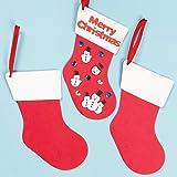 Amazon.co.jpスポンジ 無地クリスマスブーツ(6枚入り) 自分だけのオリジナルを作ろう