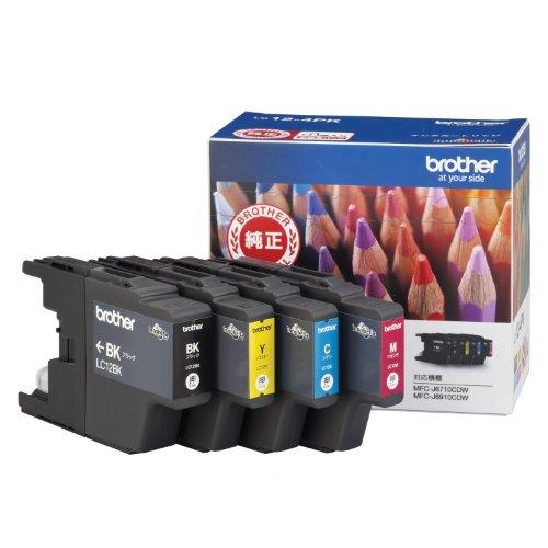 Brother ink cartridges 4-color value pack LC12-4PK