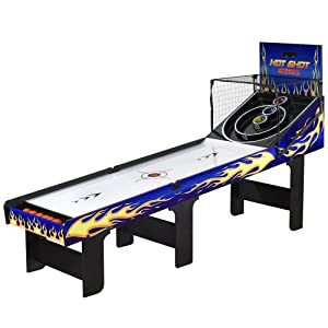 Hathaway Hot Shot Skee Ball Table, Blue, 8-Feet