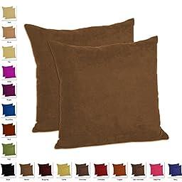 MoonRest - Set of 2 - Microfiber Decorative Pillow, Fully Assembled with Hidden Zipper (18\