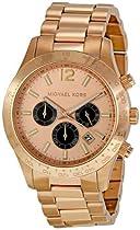 Michael Kors Layton Rose Gold-tone Chronograph Mens Watch MK8186