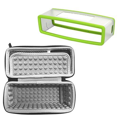 2 Pcs Stockage Sans Fil Haut-parleur Bluetooth et Silicone Case Kit de Protection pour Bose Soundlink Mini 1 2