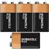 Vconcal(TM) 4 Duracell Plus 9v PP3 SMOKE ALARM Batteries MN1604, 6LR61, LR22 EXPIRY 2018
